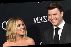 Scarlett Johansson Fiance Colin Jost Share A Sweet Moment On Snl Stage I Met The Love Of My Life Here The Great Celebrity