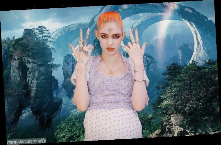 Grimes Fuels Pregnancy Buzz With Nude Knocked Up Post